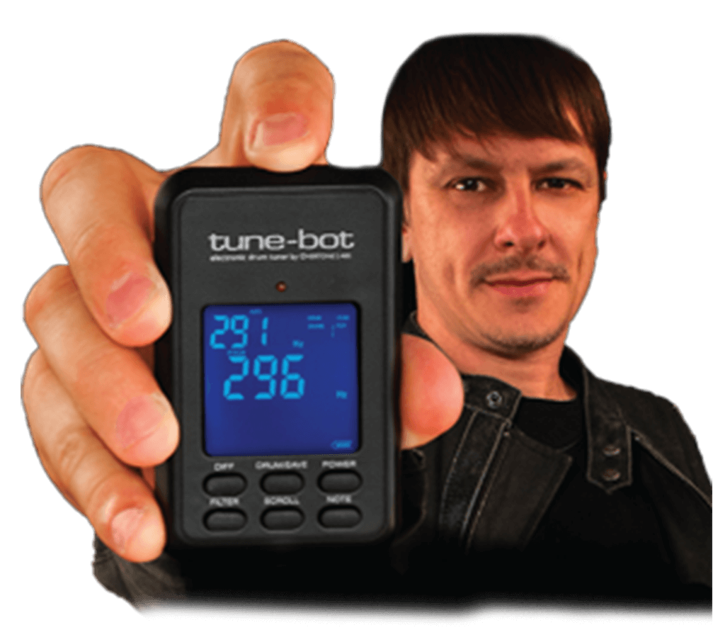 Ray Luzier, Drummer Of Korn, Holding A Tune Bot